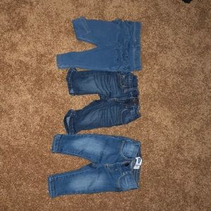 3 pairs of Baby girl jeans!
